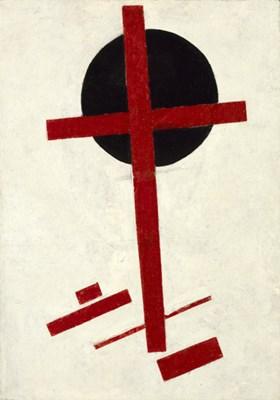 Kazimir Malevich: Mystiek suprematisme (rood kruis op zwarte cirkel), 1920. Collection Stedelijk Museum Amsterdam