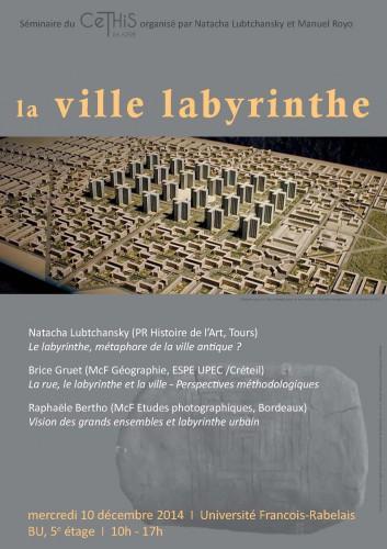 affiche La ville labyrinthe web 2