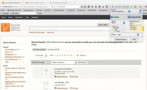 AnonymoX s'intègre à Firefox et permet de se connecter via un proxy américain.