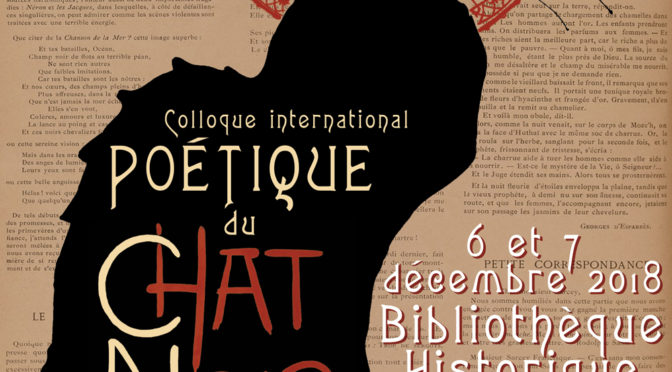 Colloque international Poétique du Chat Noir (1882-1897), BHVP, 6-7 déc. 2018