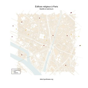 Lieux de culte près de Bastille
