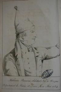Portrait de Mathurin Bruneau. Histoire... et procès complet du faux dauphin : (Mathurin Bruneau...). Paris : Pillet, 1818. Collection Paul Bourde, cote BIU Lsh : 43790