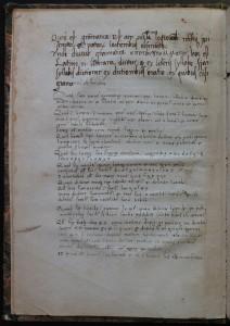 Premier feuillet vierge non paginé. Nicolas Perotti, Rudimenta grammatices, 1474 (i.e. 1484). Cote : 1R 11324