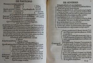 Feuillets k2 verso, k3 recto. Johannes Aventinus, Rudimenta grammaticae…, 1517. Cote : 1R 42750