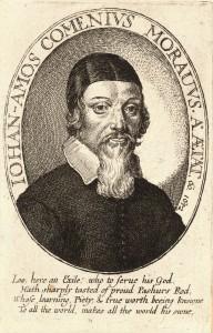 Portrait de Comenius exécuté par Wenceslaus Hollar en 1652
