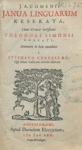 Page de titre de l'éd. trilingue latin-grec-français de 1665, chez Daniel Elzevier à Amsterdam. Cote : 1R 34762