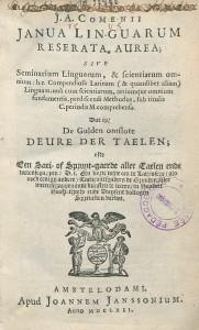 Page de titre de l'éd. trilingue latin-flamand-français de 1662, chez Johannes Janssonius à Amsterdam. Cote : 1R 52756