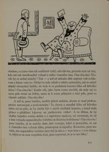 La ligne droite affirmée, comme nous la trouvons dans la bande dessinée quelques années plus tard. Josef Lada.  O chytré kmotře lišce (Compère renard le rusé). Prague, Státní nakladatelství dětské knihy, 1957. J 131208.