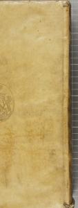 Dos long (sans nerfs visibles), reliure en parchemin soupleCatalogum testium ueritatis. 1562. Cote : 1R 2695