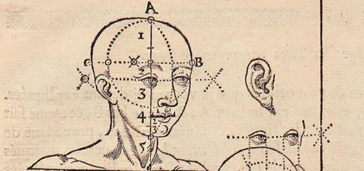 Jean Cousin, L'art de dessiner, détail d'une planche sur les proportions