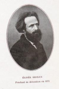 Portrait d'Élisée Reclus réalisé pendant sa détention en 1871
