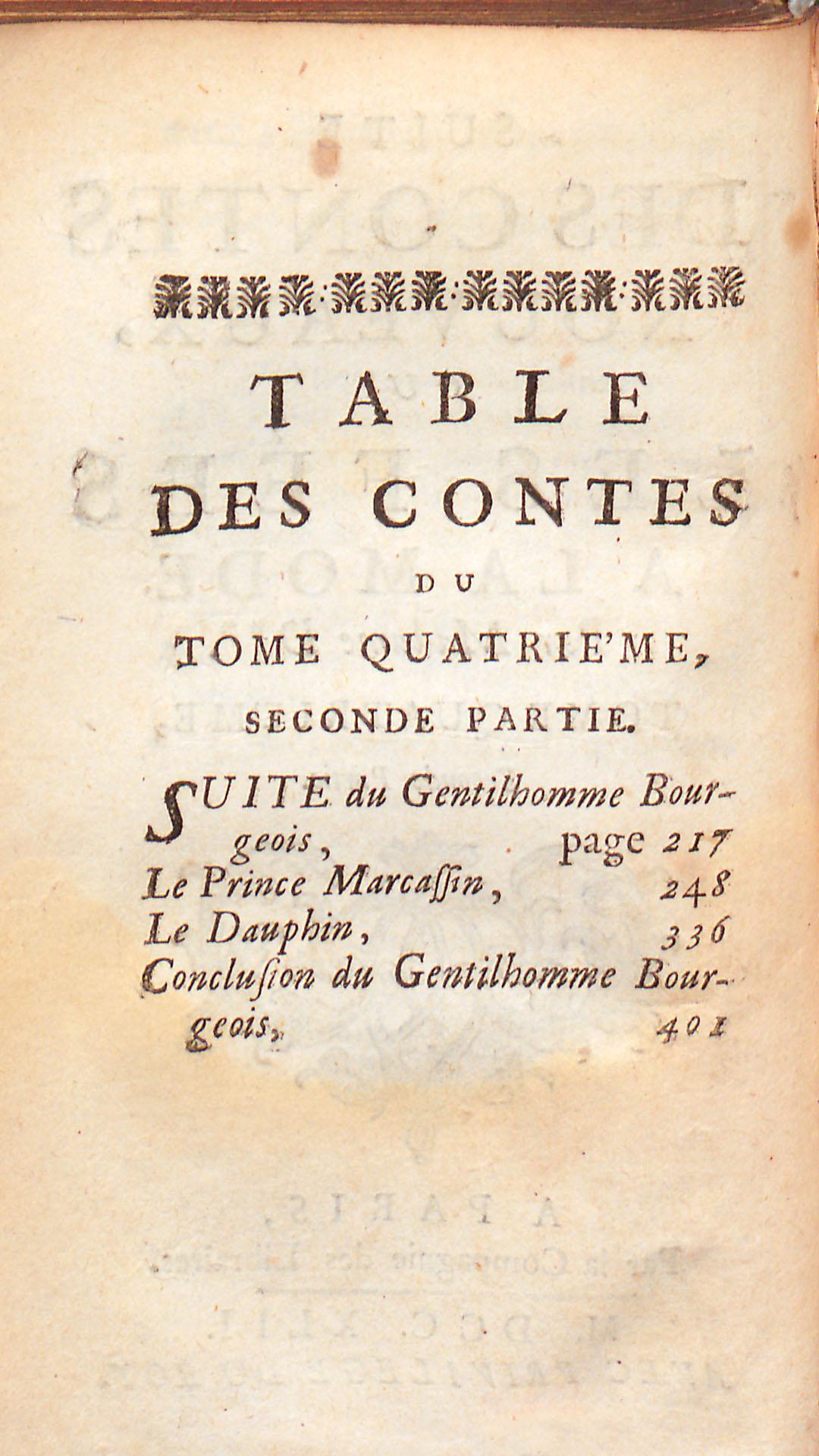 Table des contes, tome quatrième, seconde partie