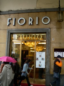 El famoso Café Florio, precisamente en la turinesa Via Po