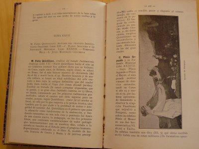 Ilustración de un cuadro de Alma Tadema en el manual de literatura latina de Eustaquio Echauri (1928)
