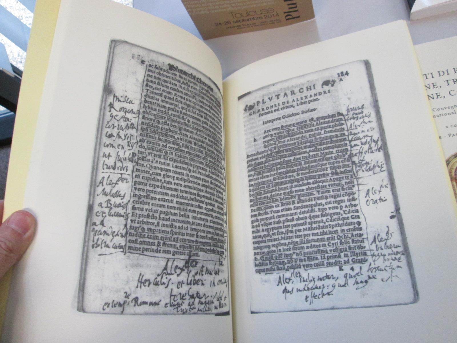 """El facsímil sobre """"La respuesta de Roma a Plutarco"""" escrita por Tasso, en la preciosa edición de la profesora Volpe"""