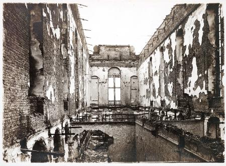 Los soldados alemanes quemaron la biblioteca durante la primera guerra mundial.
