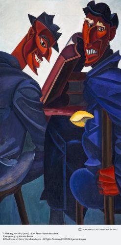 """Percy Wyndham Lewis, """"A Reading of Ovid (Tyros)"""" (1920)"""