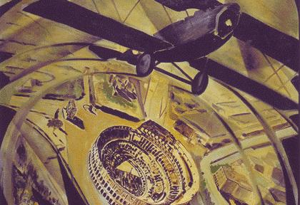 "Tato (Guglielmo Sansoni), ""Sobrevolando en  espiral el Coliseo (Spiralata)"", 1930"