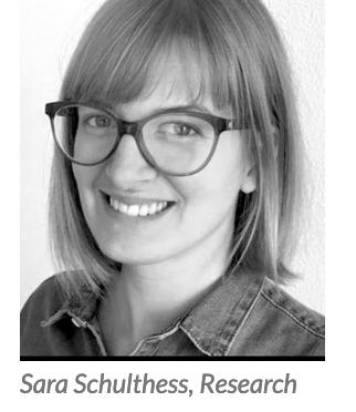 A big thanks to Sara Schulthess