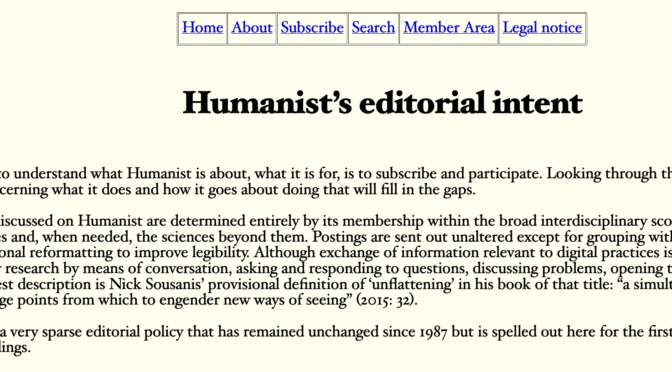 Humanist Discussion Group alive