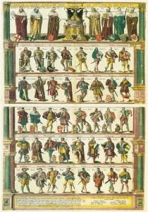 Les états du Saint-Empire. Gravure de 1606. Source : Wikimedia Commons.