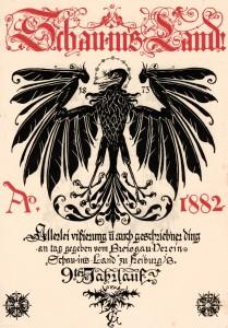 """Titelblatt des Jahrbuchs """"Schau-ins-Land"""" aus dem Jahr 1882."""