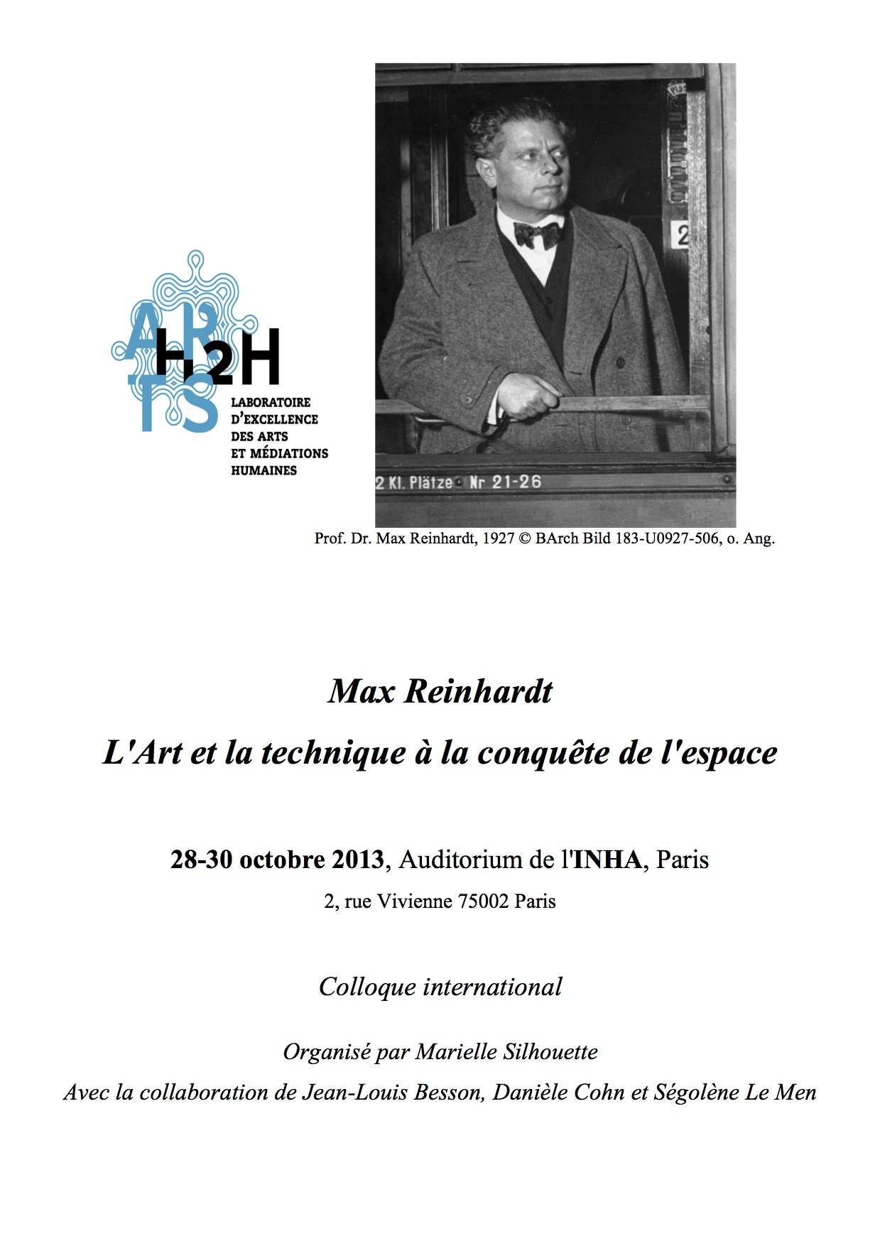 Colloque Max Reinhardt