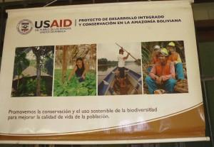 Bureau de la coopération états-unienne avant sa fermeture - septembre 2012. USAID a été très présent dans le Norte La Paz avant sa fermeture