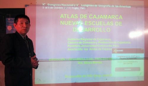 Présentation des avancées de l'atlas de Cajamarca par Javier Ramirez