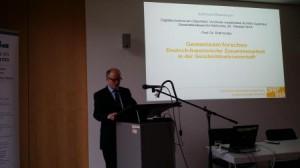 Lors de la présentation du portail à Karlsruhe (22/10/2014)