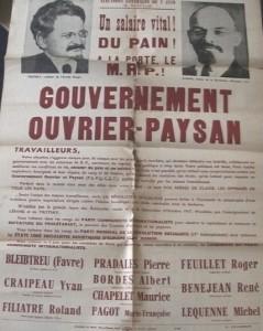 Affiche 1 élections législatives 2 juin 1946