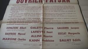 Affiche 2 élections législatives 2 juin 1946 secteur 1