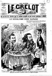 Carricature René Chauvin Jules Guesde Le Grelot1