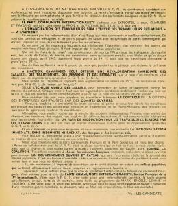 Elections 1946 tract PCI verso