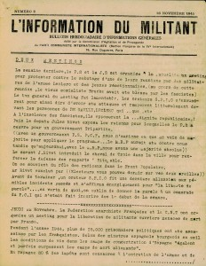 Nov 1945 L'information du militant couverture