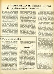 Yougoslavie 1965 Favre-Bleibtreu