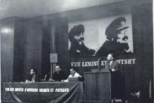 Célébration du 50ème anniversaire de la révolution d'Octobre au Palais de la Mutualité à Paris