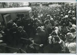 Manif 22.03.1973 Chauvin 1er plan, photographié