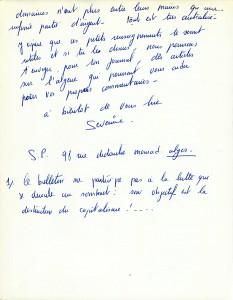 Page 4 Lettre Séverine Paraud octobre 1964