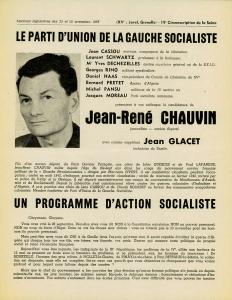 Affiche Jean-René Chauvin affiche élections 1958 recto