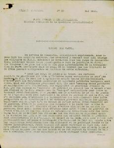 Bulletin Intérieur n°18 mai 1943 lettre des camps page 1