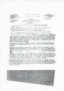 Citation à comparaitre devant cours martiale - Demazière 1942