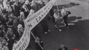 Comité des Intellectuels anti-fascistes- Photo14 juillet 1935