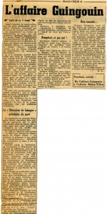 FT Affaire Guingouin 1er octobre 1952  suite