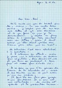 Page 1 Lettre Eliane de Serres d'Alger