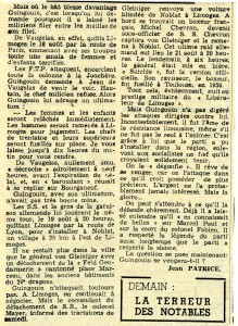 Paris-Presse 1962 Affaire Guingouin suite et fin