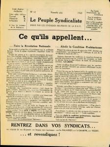 Le Peuple Syndicaliste 1943