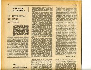 Maurice Nadeau 1964 Révolution du livre de poche