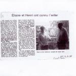 Ouest-France Eliane et Henri Berthomé