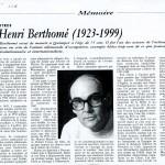Rouge - Henri Berthomé 1923-1999